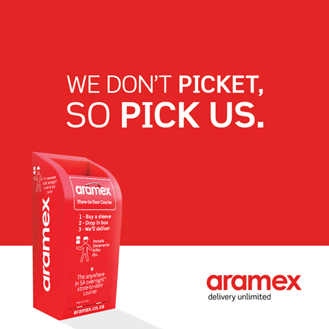 Aramex SA - We don't picket,  so PICK US.